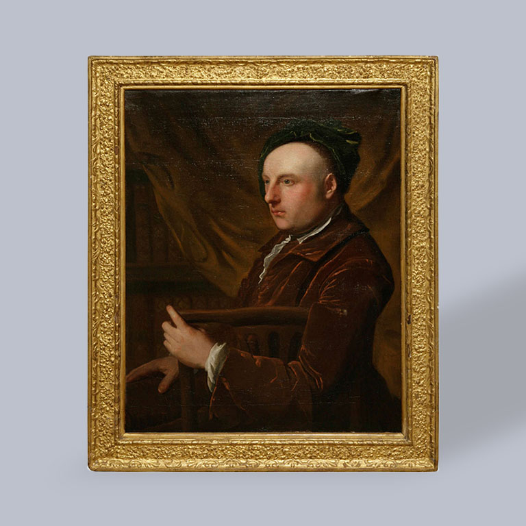 Portrait of an Artist, Circle Of Thomas Gibson ca. 1730.
