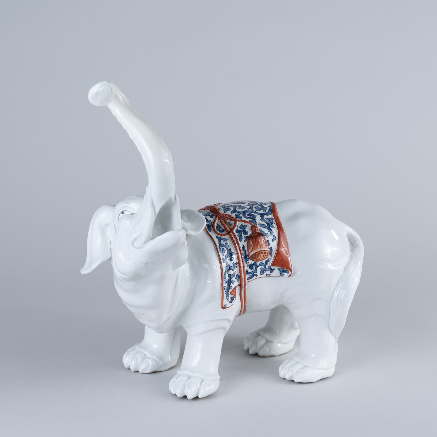 French mid 19th Century Porcelain Elephant
