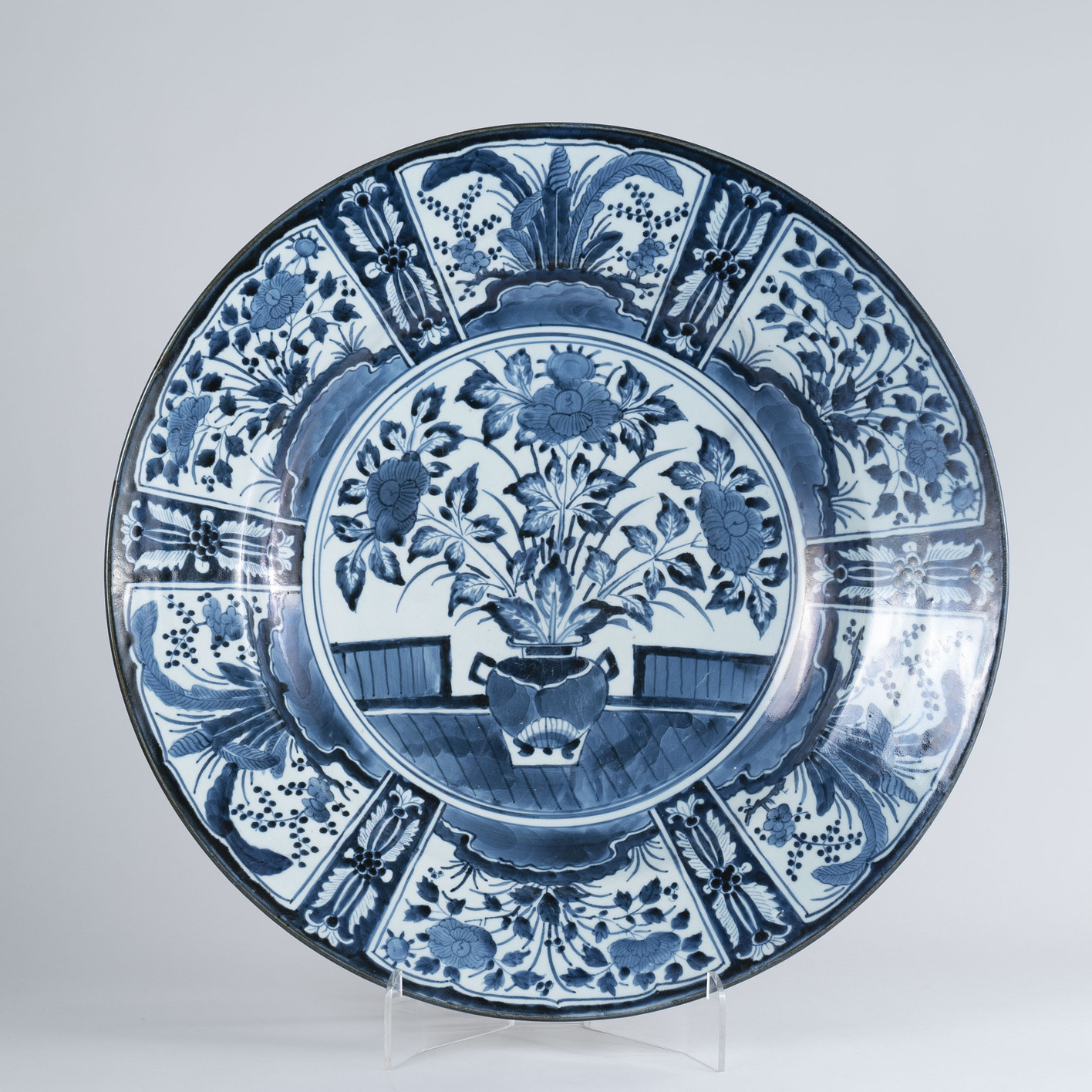 Very Large 17th Century Japanese Arita Blue and White Charger