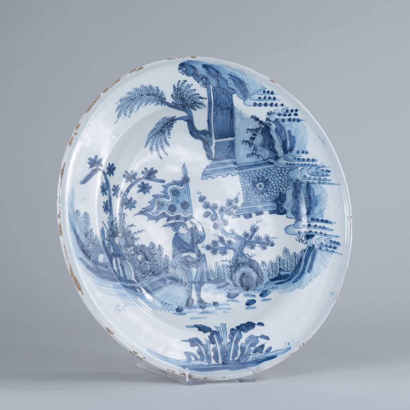 Large Early 18th Century Dutch Delft Charger, circa 1720