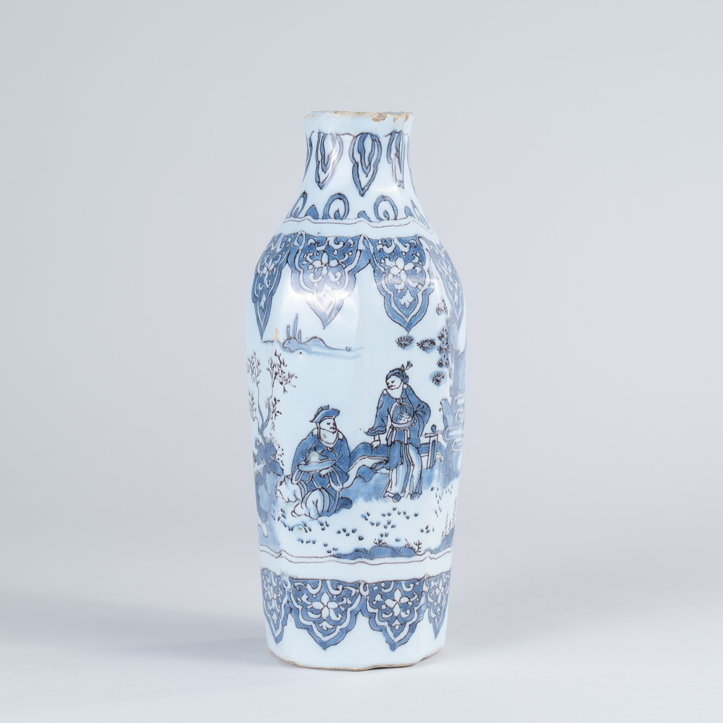 Late 17th Century Dutch Delft Octagonal Vase