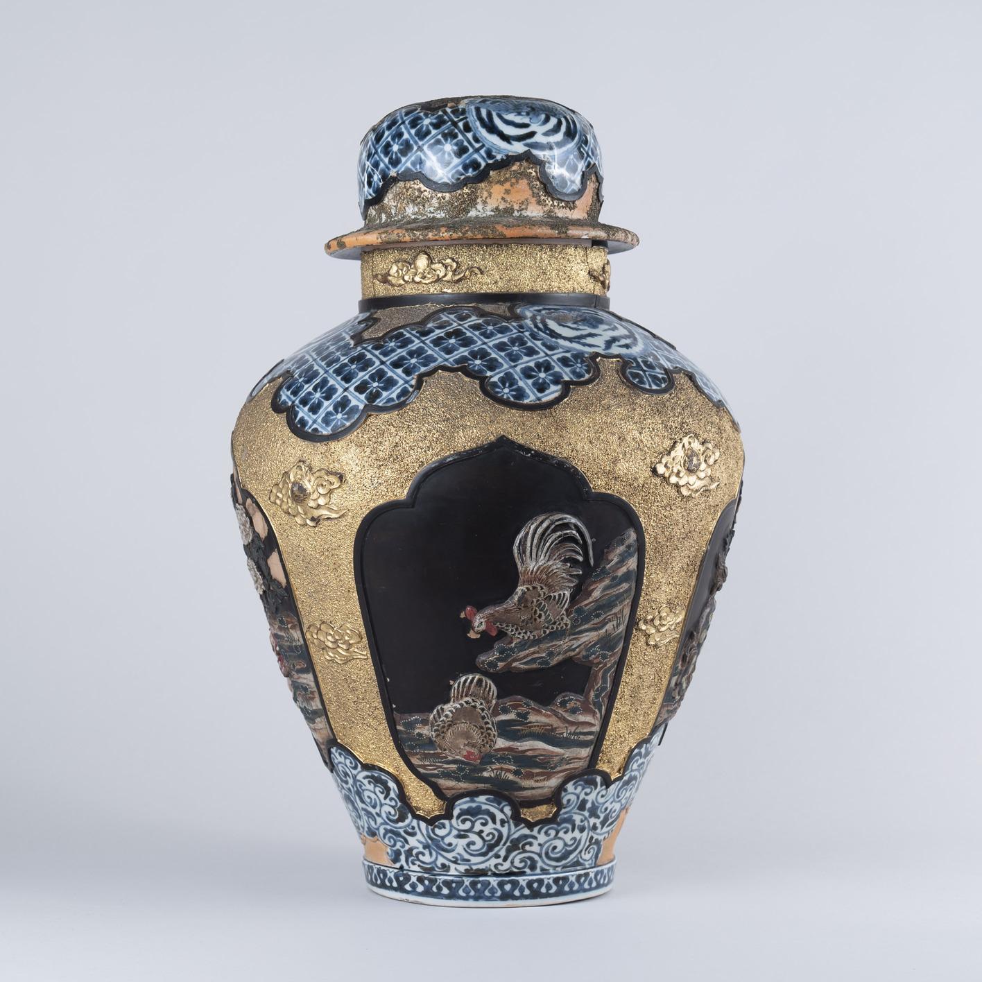 Very Rare Japanese Imari Lacquered Vase, circa 1700
