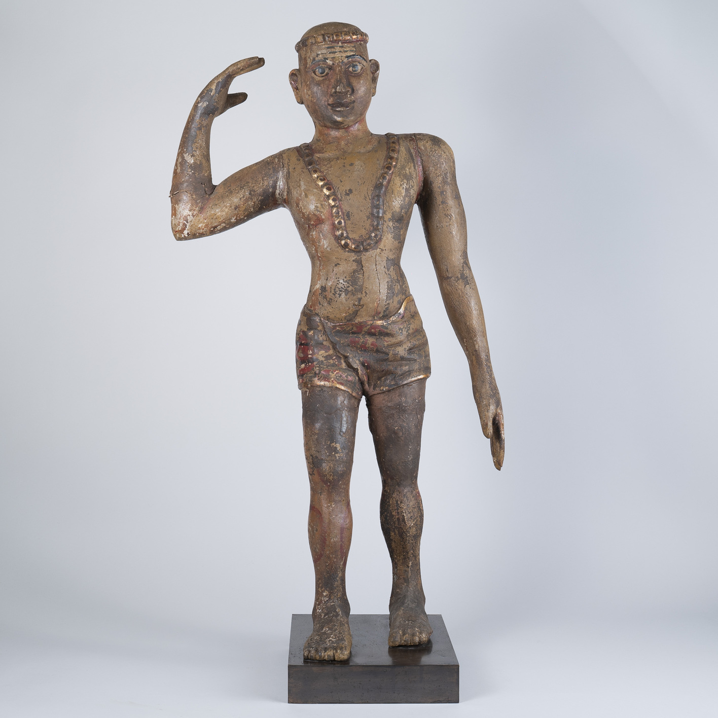 Tall 18th Century South Indian Wooden Sculpture