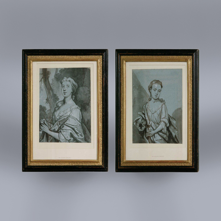 A Pair of Early 18th Century Portrait Drawings attribuited to Byng