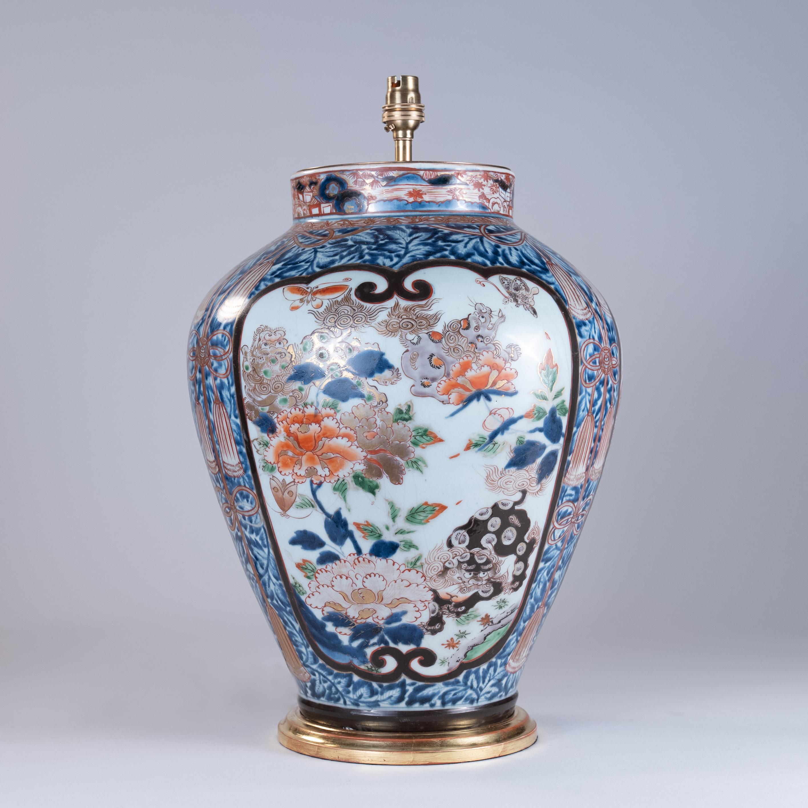 Large 18th Century Japanese Imari Vase as a Lamp