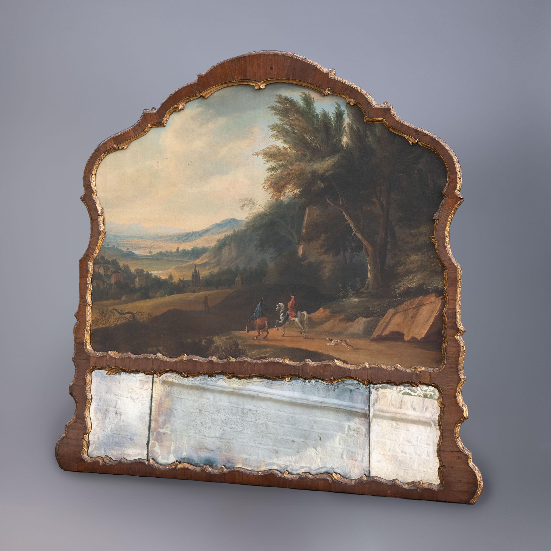 George II Overmantel Pediment Mirror, circa 1750
