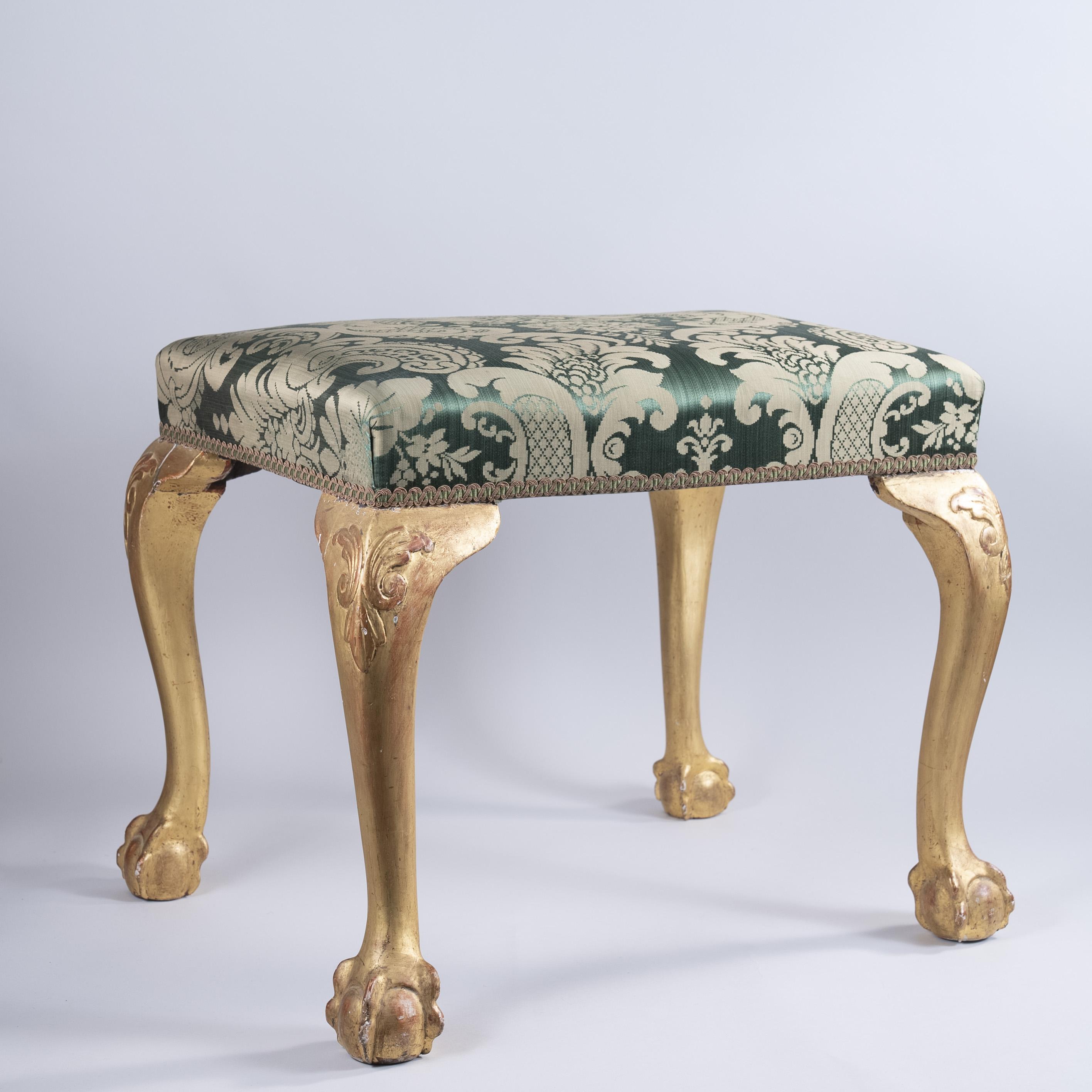 George II giltwood stool