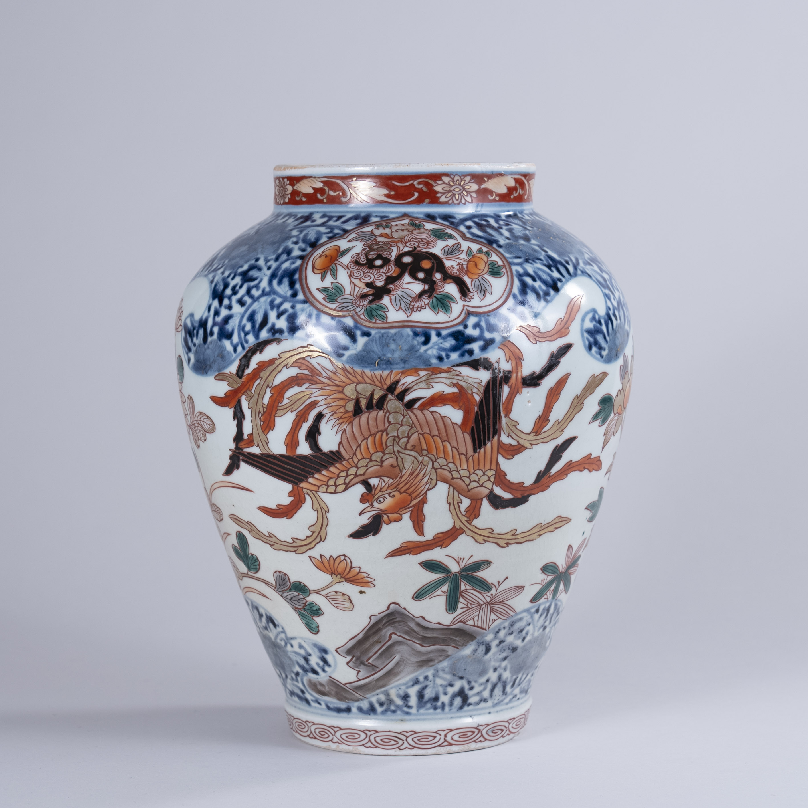 Early 18th centuryJapanese Imari Porcelain Vase as a Lamp