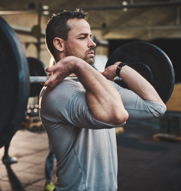 Man performing a clean and jerk