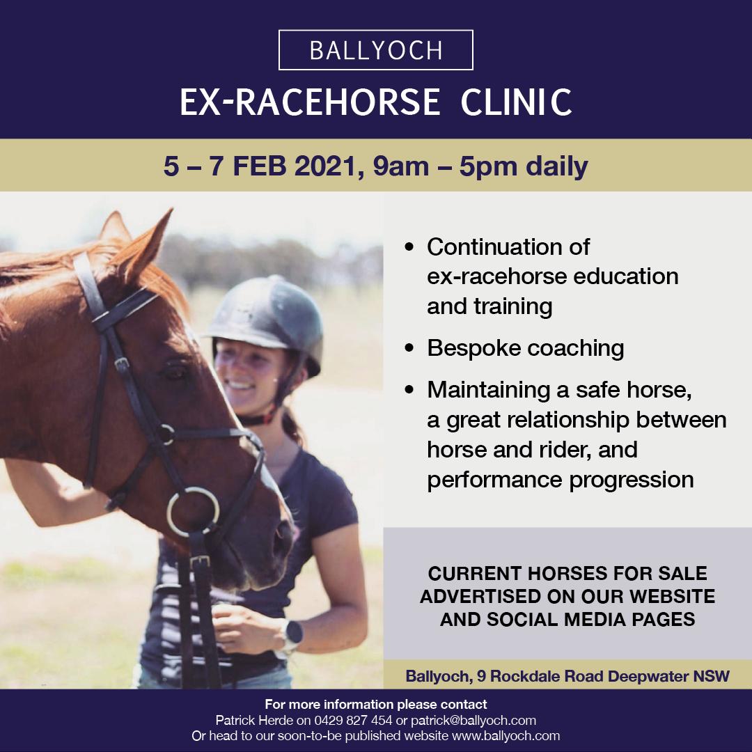Ballyoch Ex-racehorsing clinic flyer