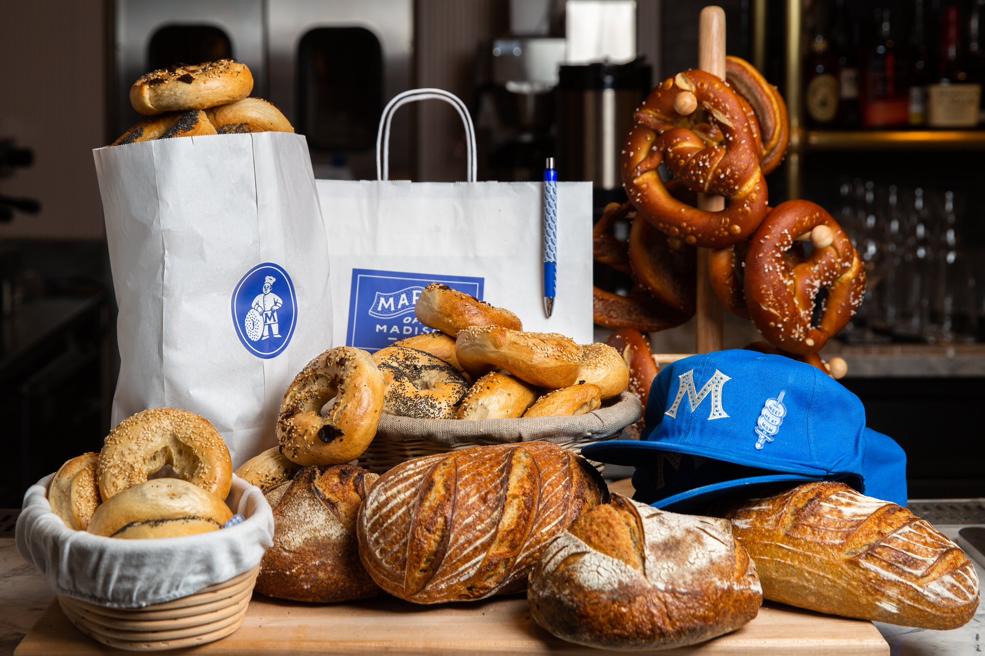 Mark's Off Madison bagels and products