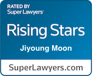 Jiyoung Moon Superlawyer badge