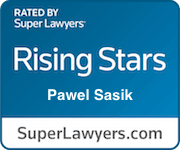 Pawel Sasik Superlawyer badge