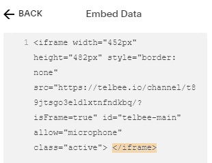 Embedding telbee channel as iframe in Squarespace