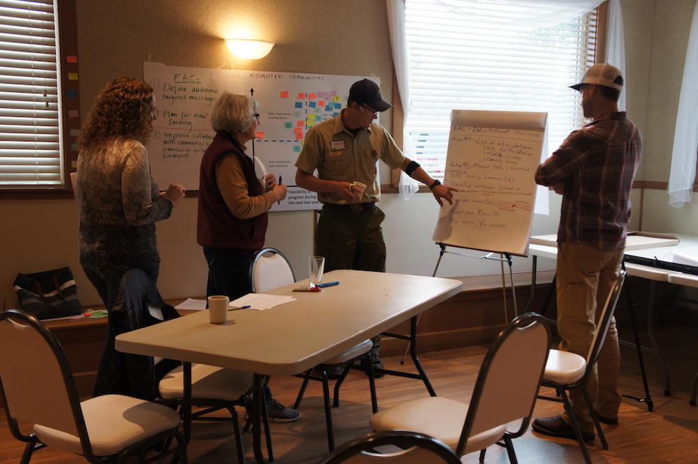A Kittitas Fire Adapted Communities Coalition (KFACC) workshop in October 2019