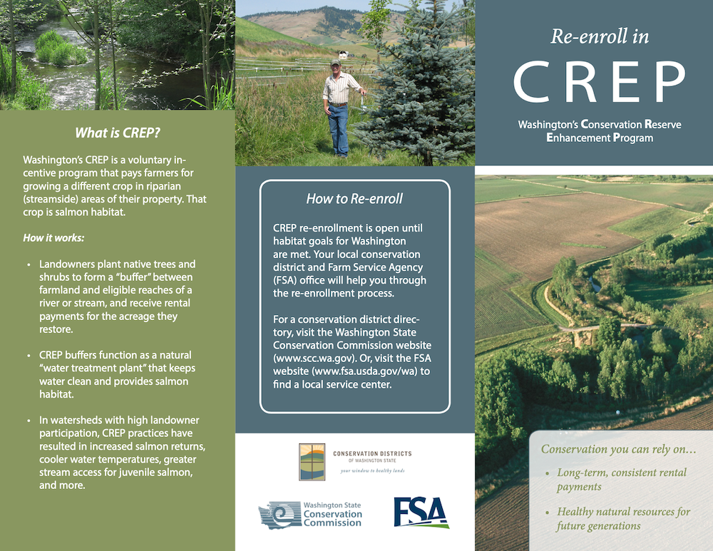 Conservation Reserve Enhancement Program (CREP) Re-enrollment Brochure