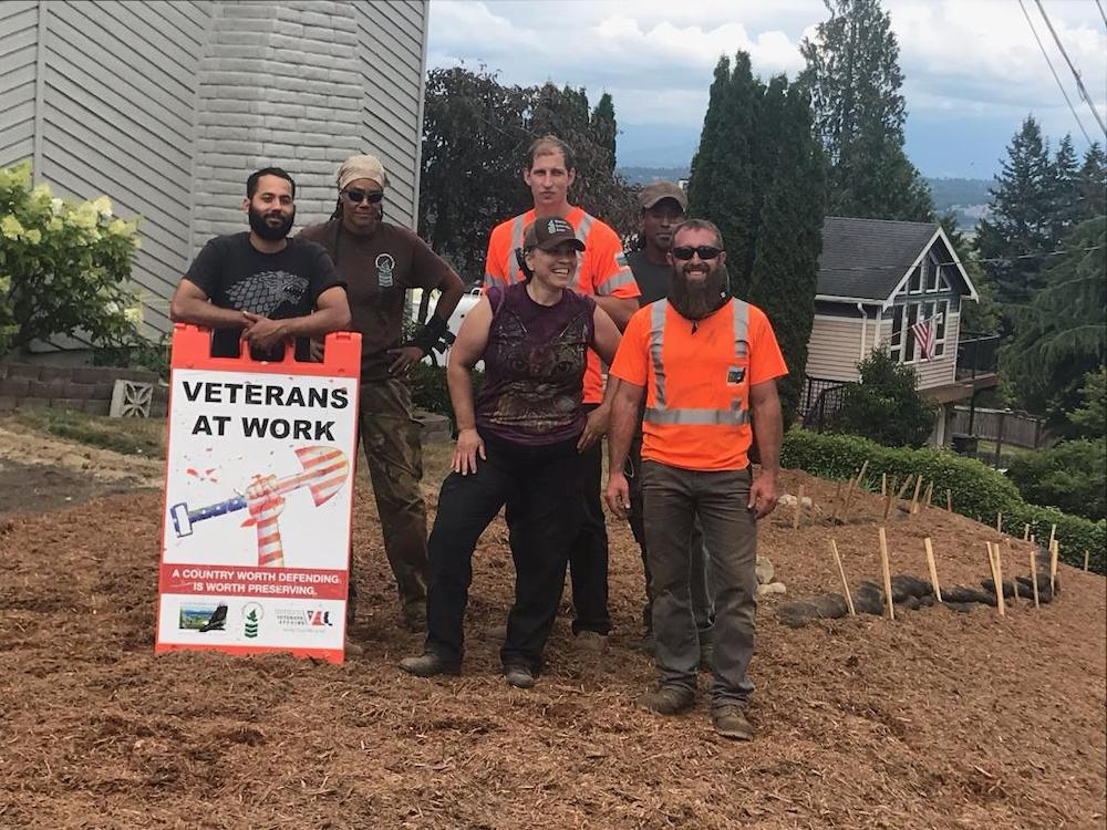 Our Veterans Conservation Corps completing a depave project