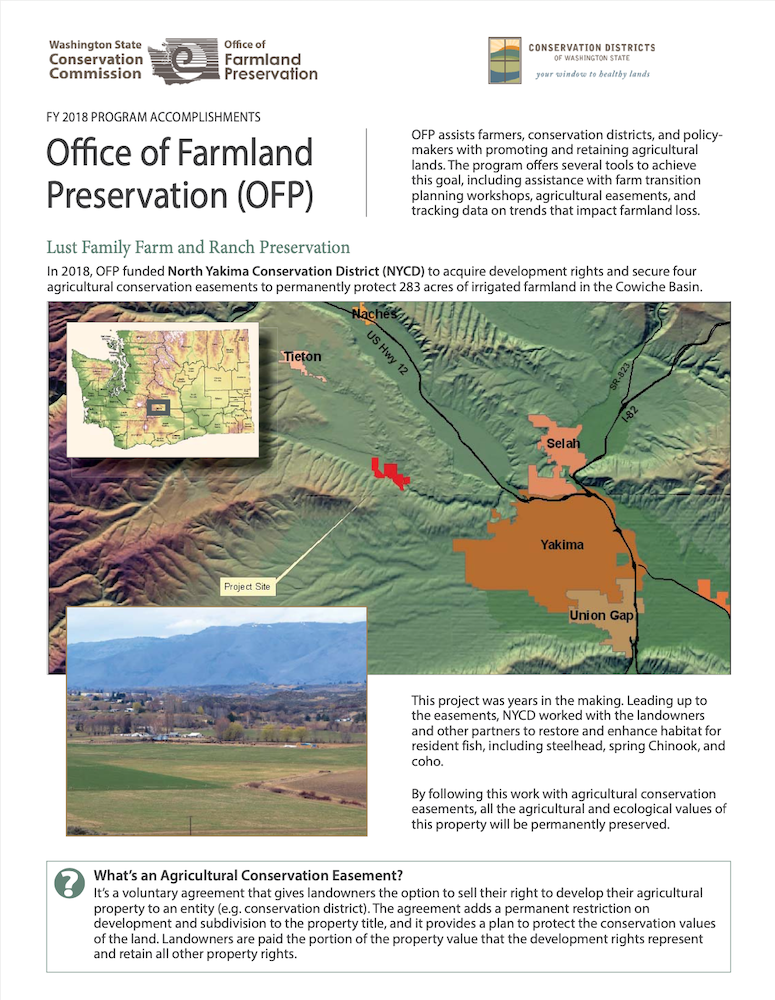 Office of Farmland Preservation – FY 2018 Accomplishments
