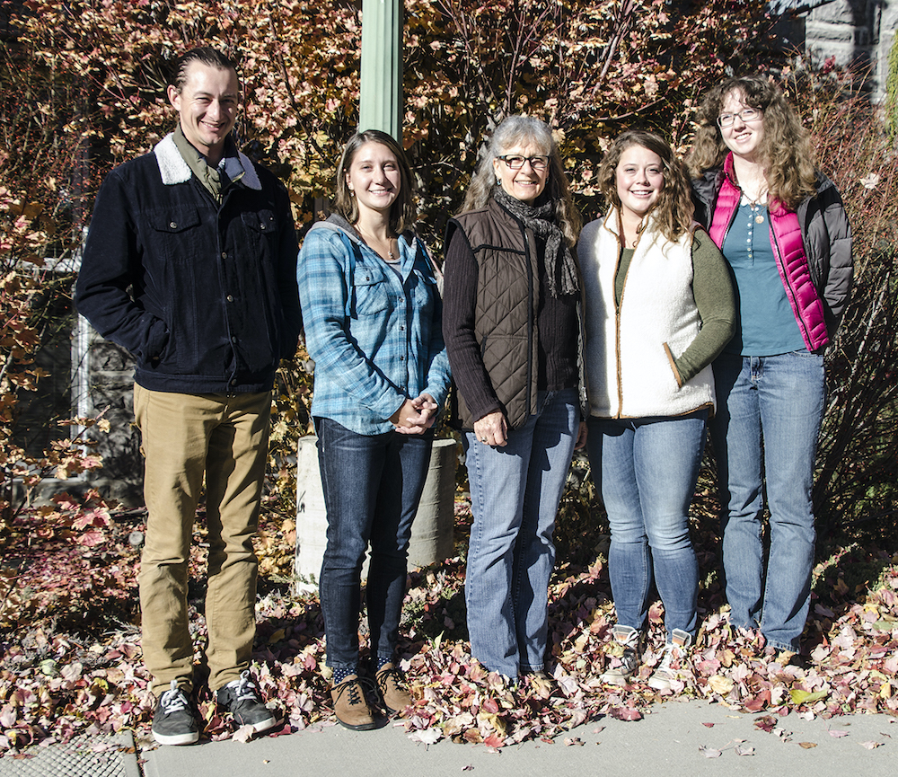 The staff of Foster Creek CD (L to R) Ryan Lefler, Elizabeth Jackson, Amanda Ward, Becca Hebron, and Angela Orpet