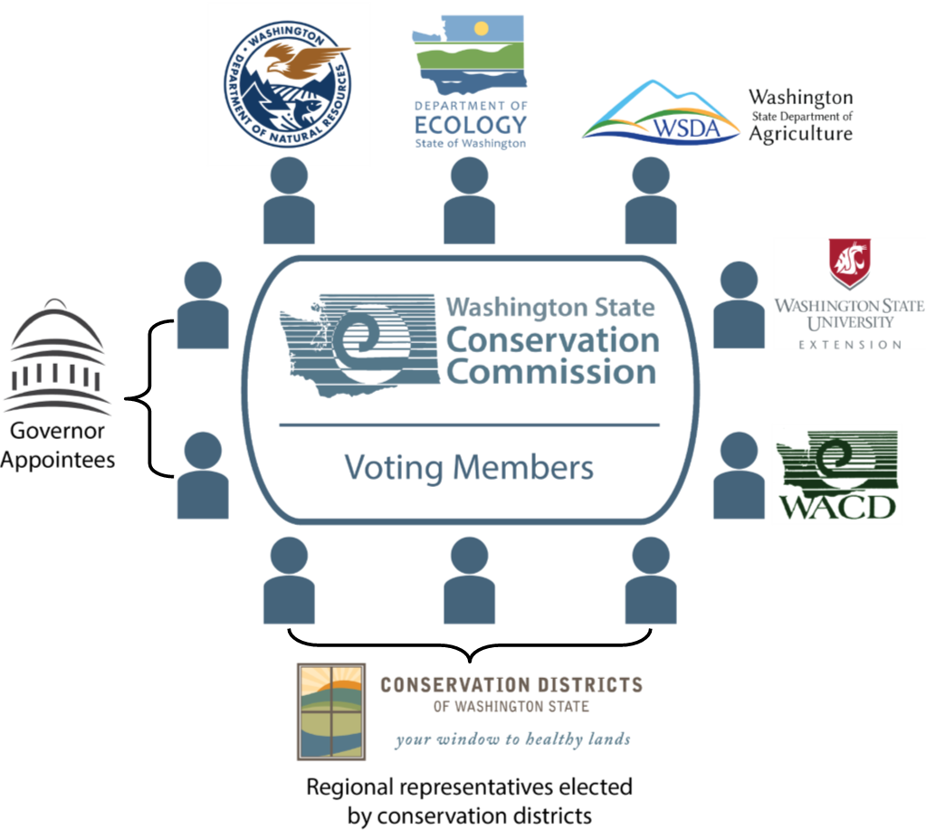 Voting members of the Conservation Commission