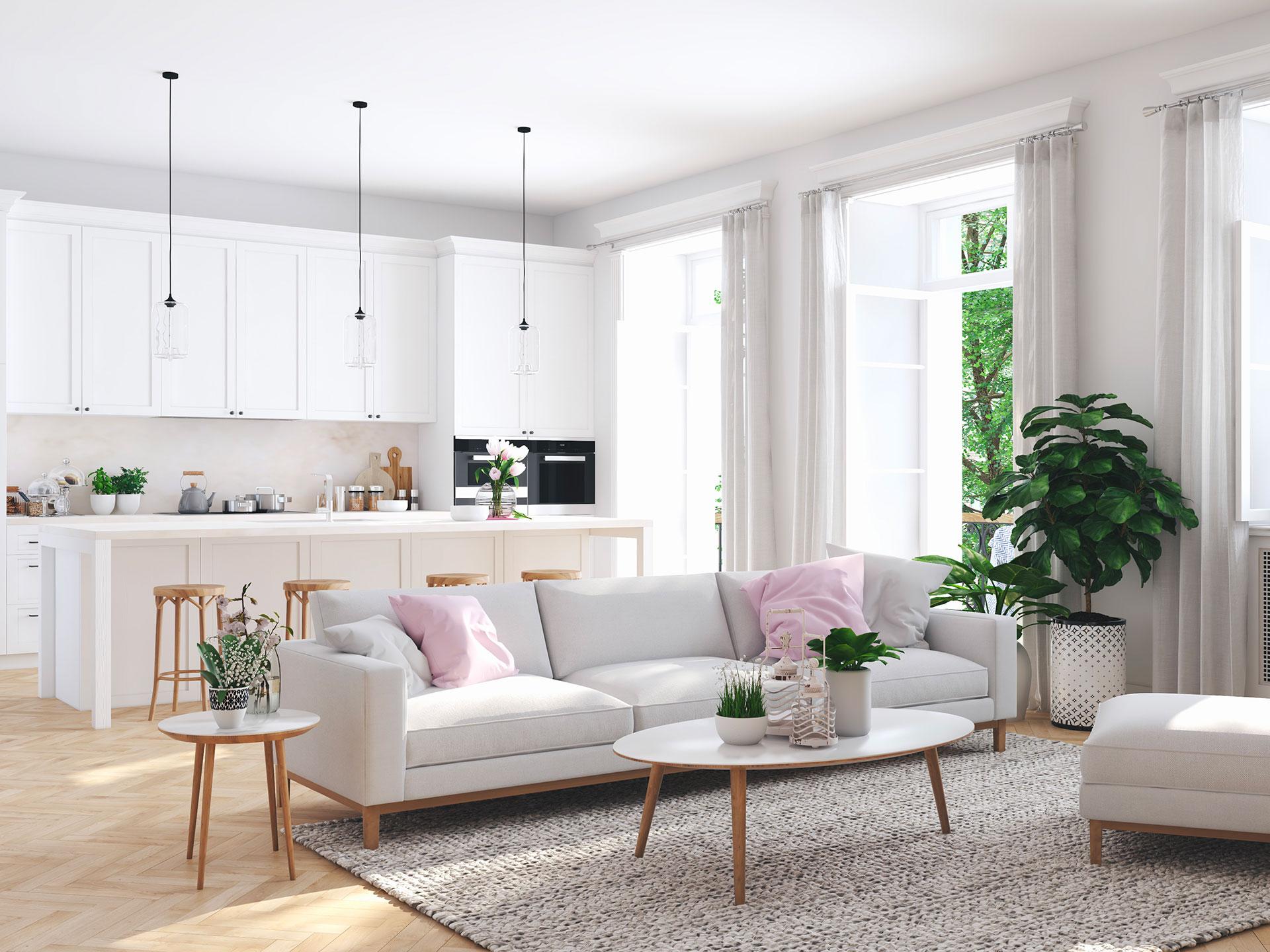 Photographie d'appartement témoin aménagé avec du mobilier