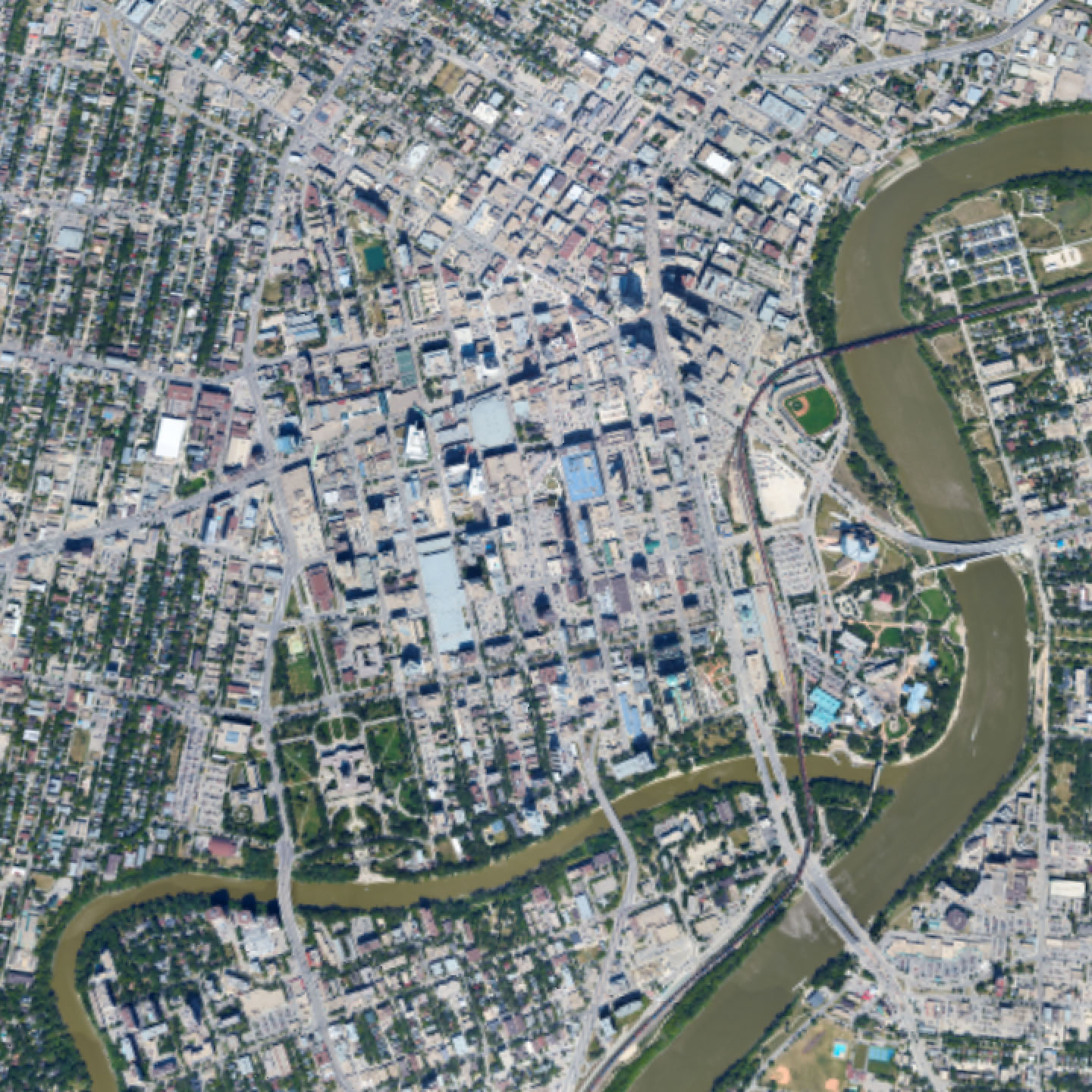 high resolution aerial imagery Winnipeg, Manitoba Canada