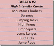 examples of tabata workouts you can do at home: high intensity cardio