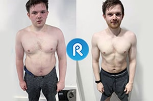 before and after weight loss with personal trainer