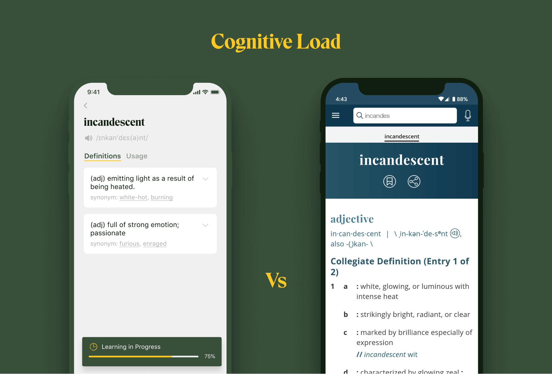 Dictionary Lockcard vs Merriam Webster