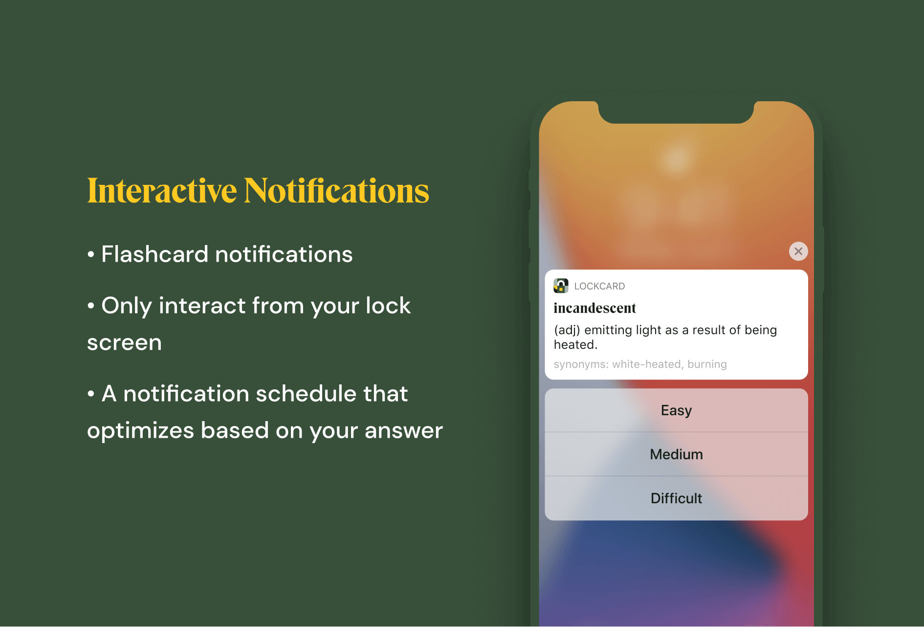 Interactive Notifications - Lockcard