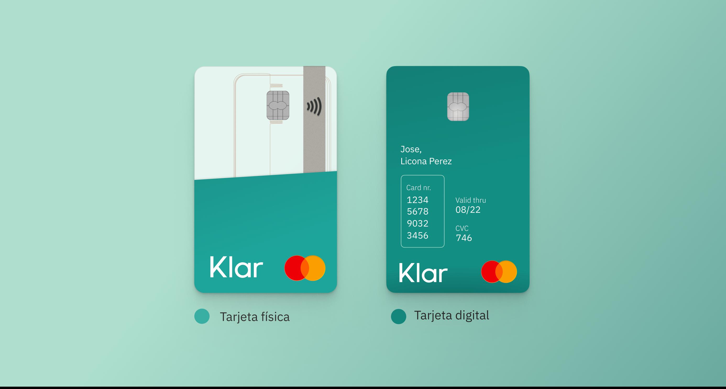 La tarjeta digital tiene dos características clave: práctica y segura para compras en línea.