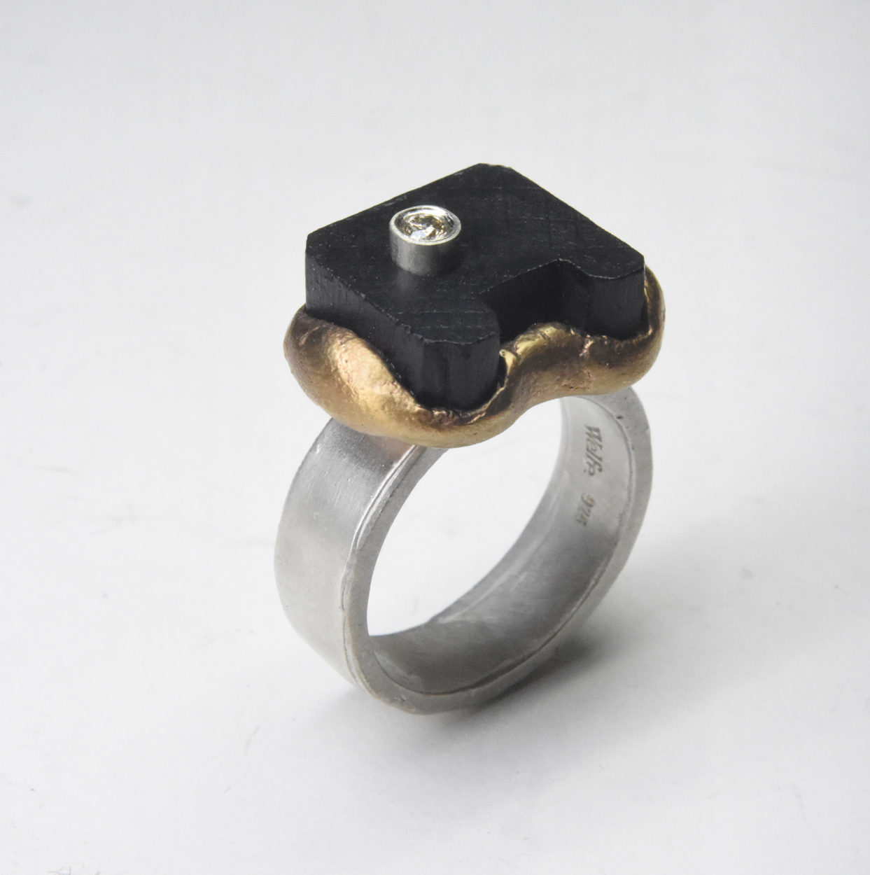 black wood ring