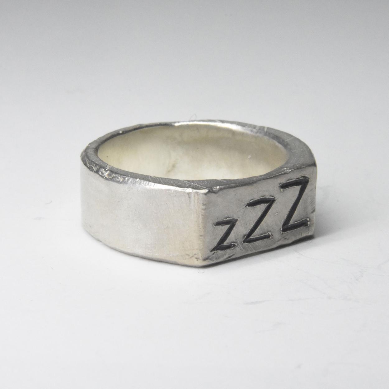 ZZZ signet ring