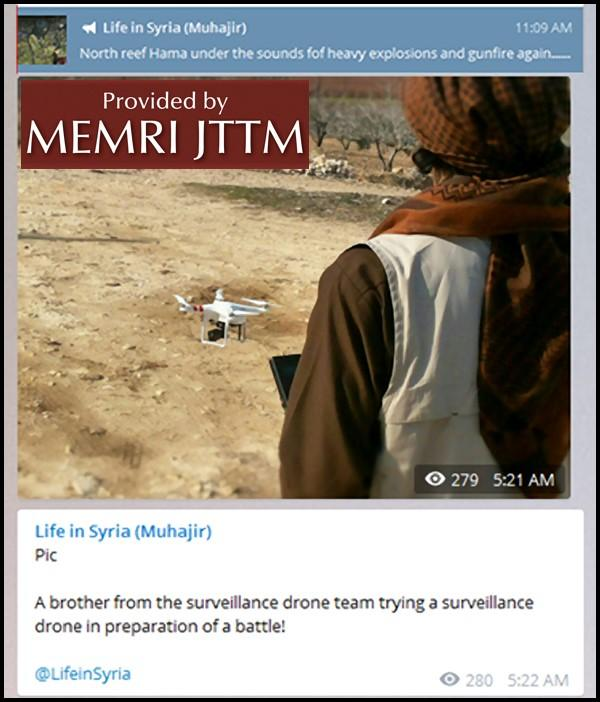 Syrian Jihadi Shares Information About Drone Use