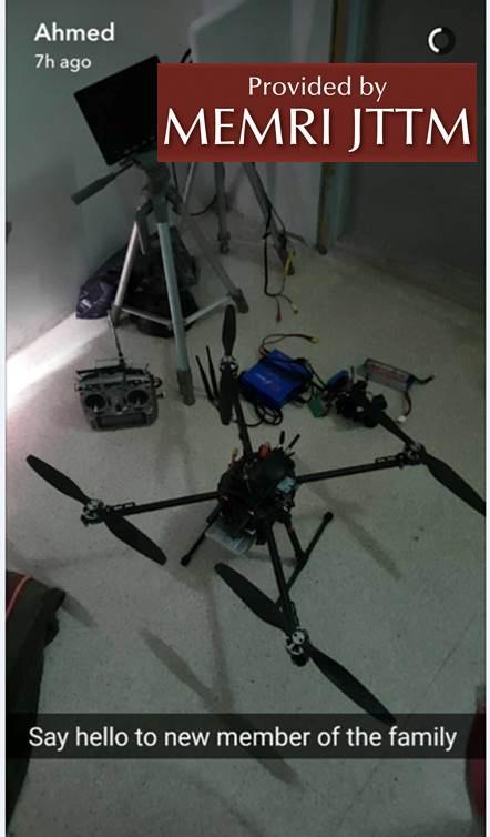 Australian Jabhat Fath Al-Sham Fighter Posts Photo Of Drone on His Snapchat memri