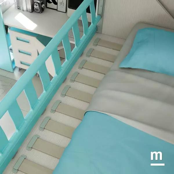 camerette moretti compact con protezione del letto anti caduta