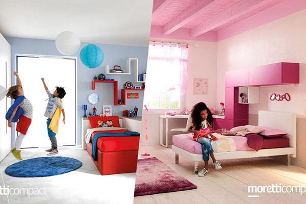 camerette per bambini e bambine di moretti compact