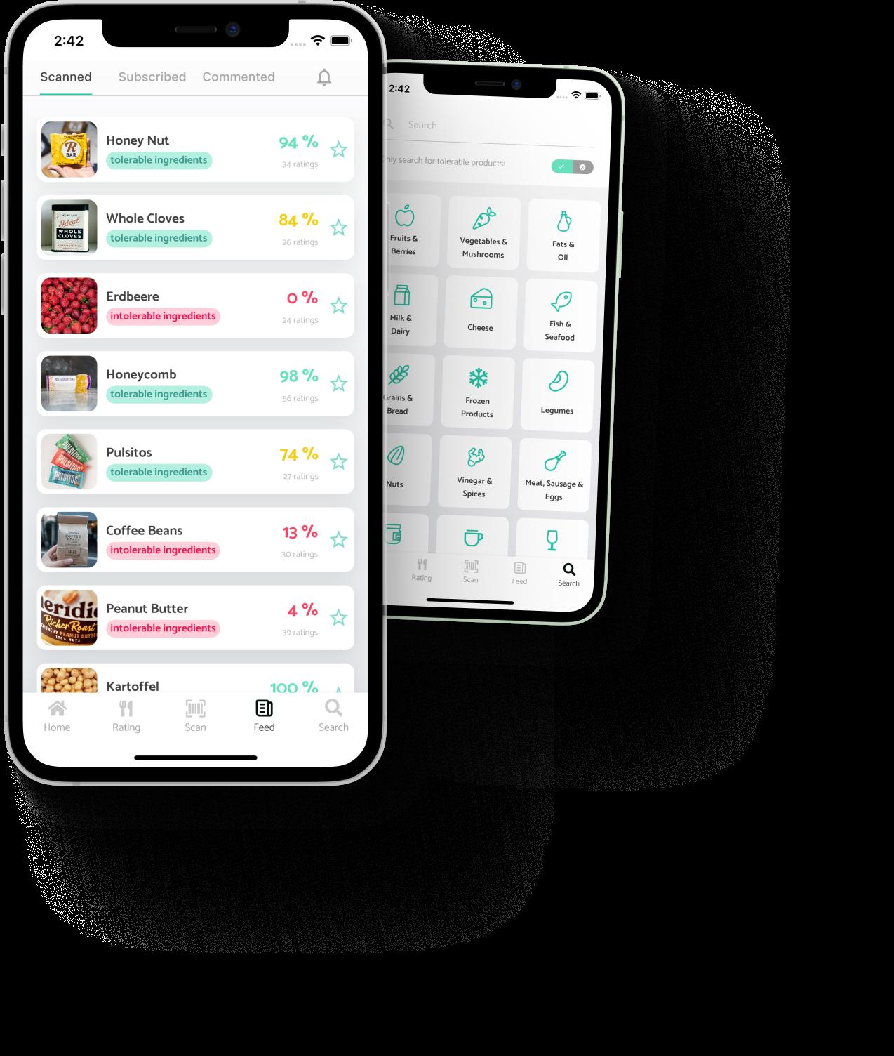 TIOLI App für Lebensmittelintoleranzen