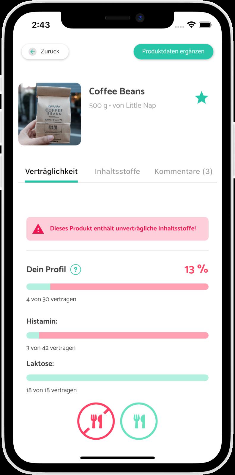 TIOLI App für Menschen mit Lebensmittelintoleranzen