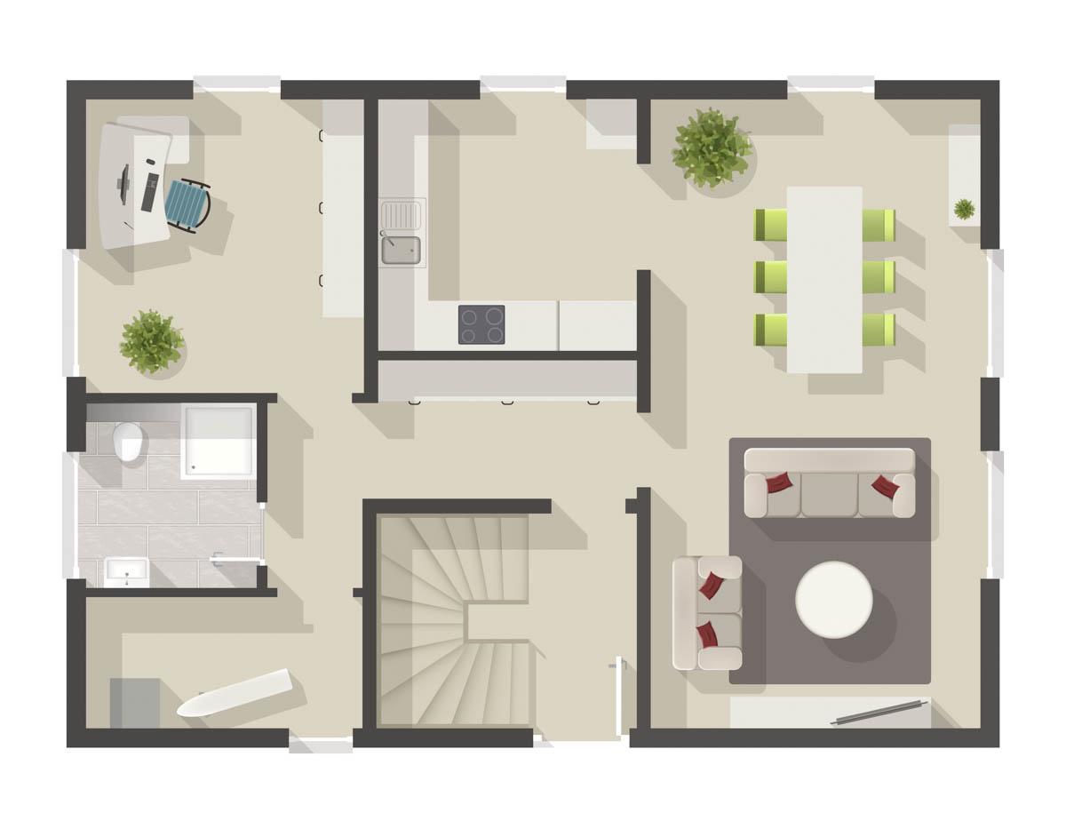 floor plan of an house