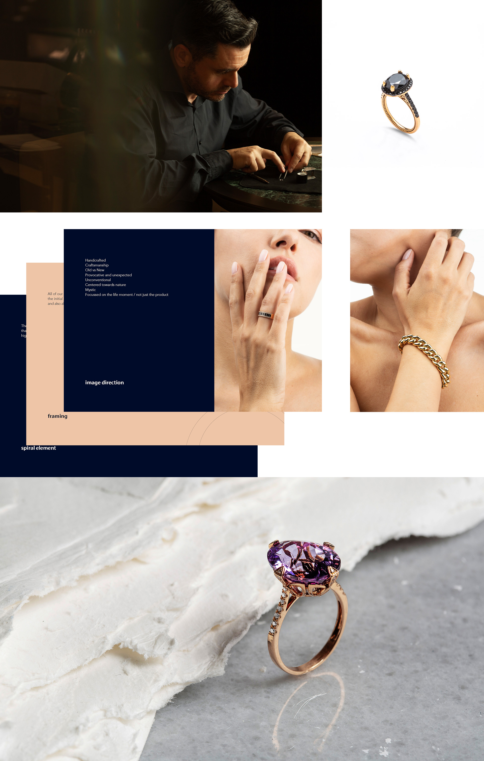 selection of images from brand manual