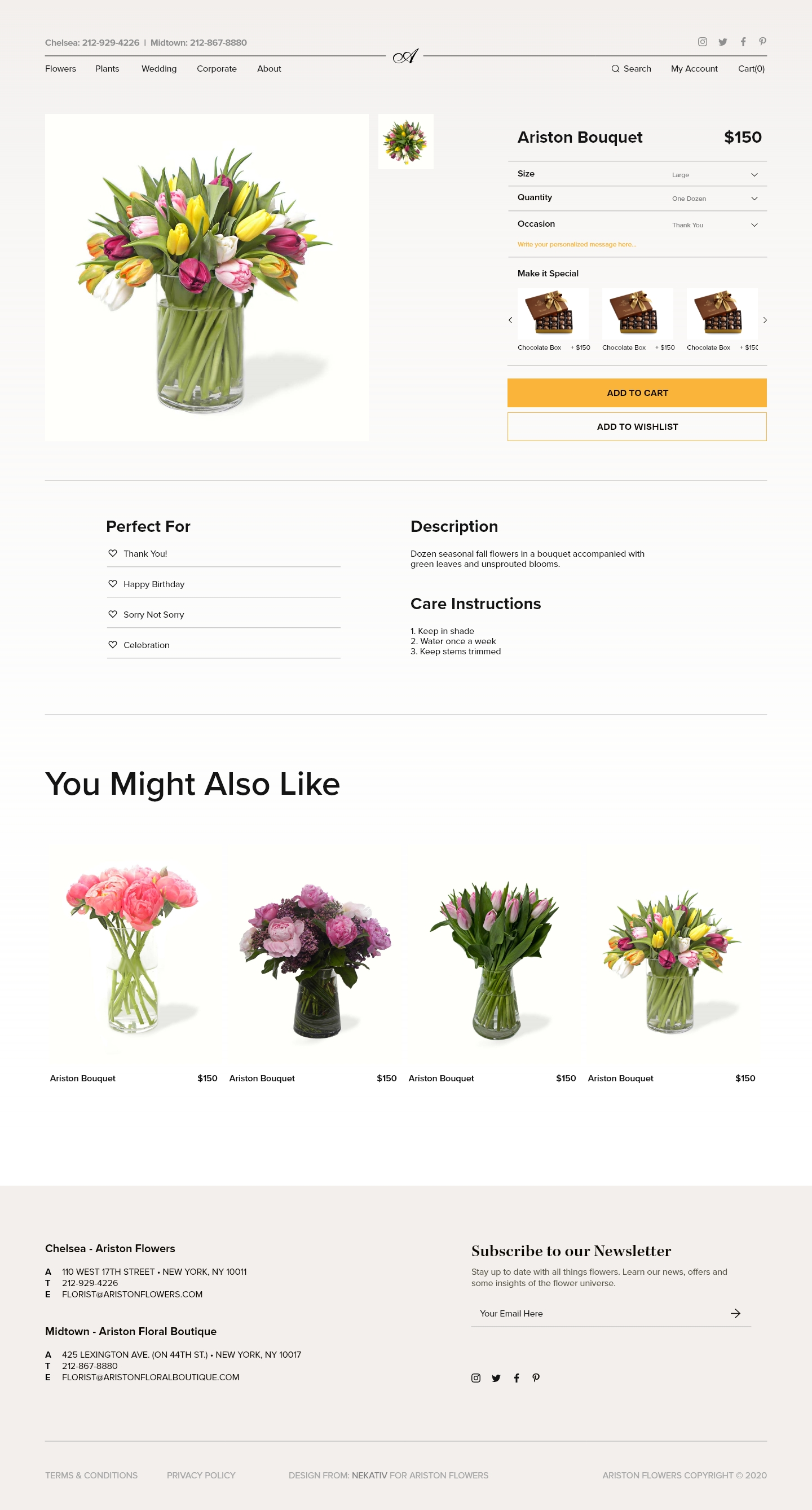 product page of ecommerce