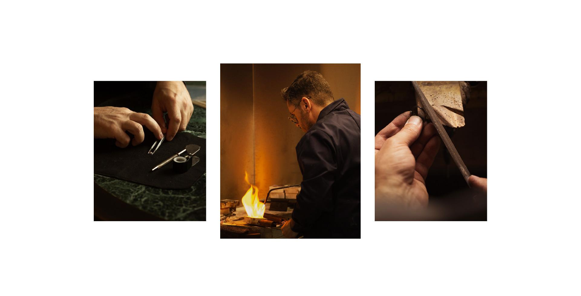 a man crafting jewels