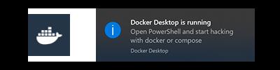 Docker Desktop is running