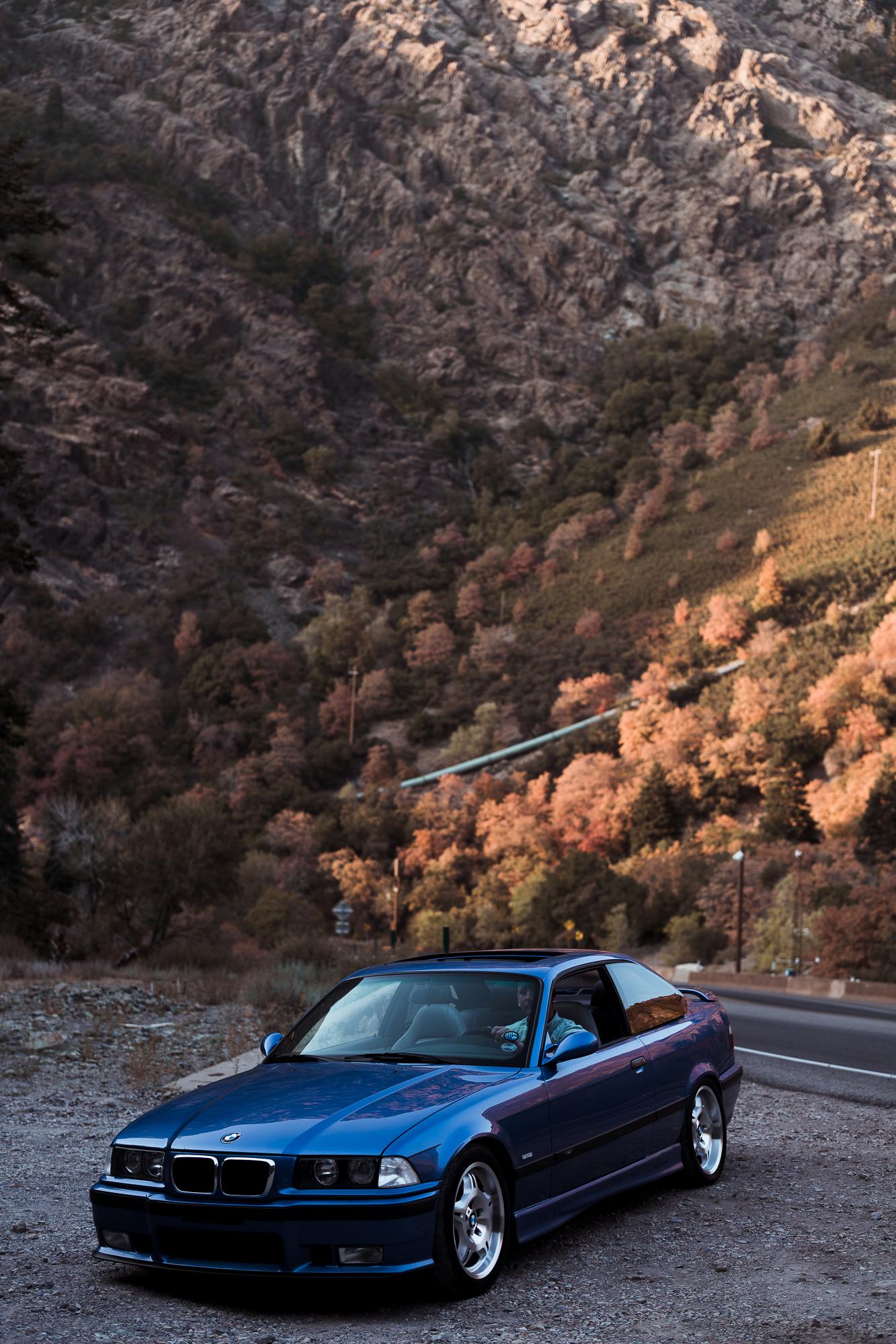 3/4 car shot in canyon