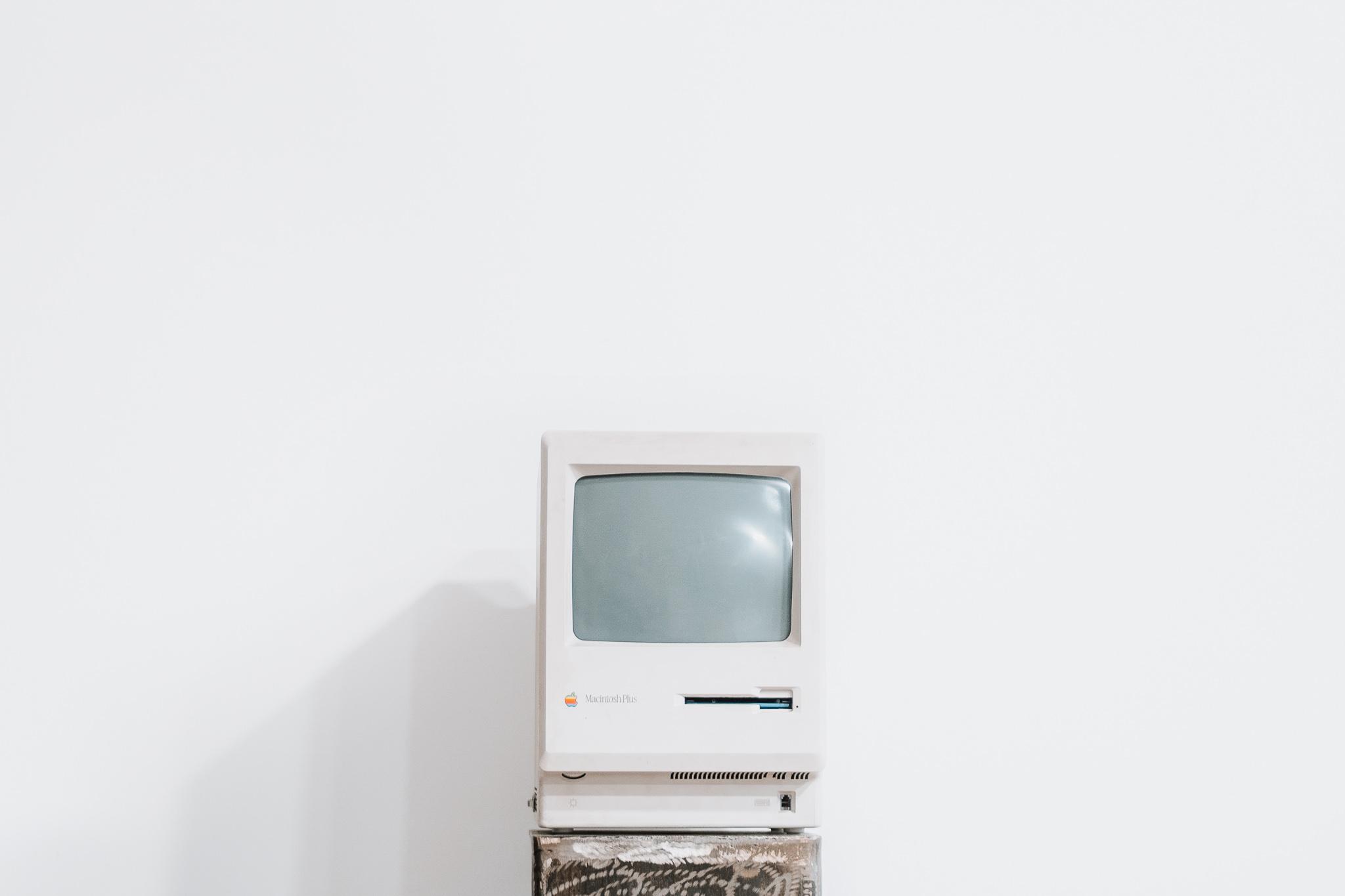 Vintage Apple computer.
