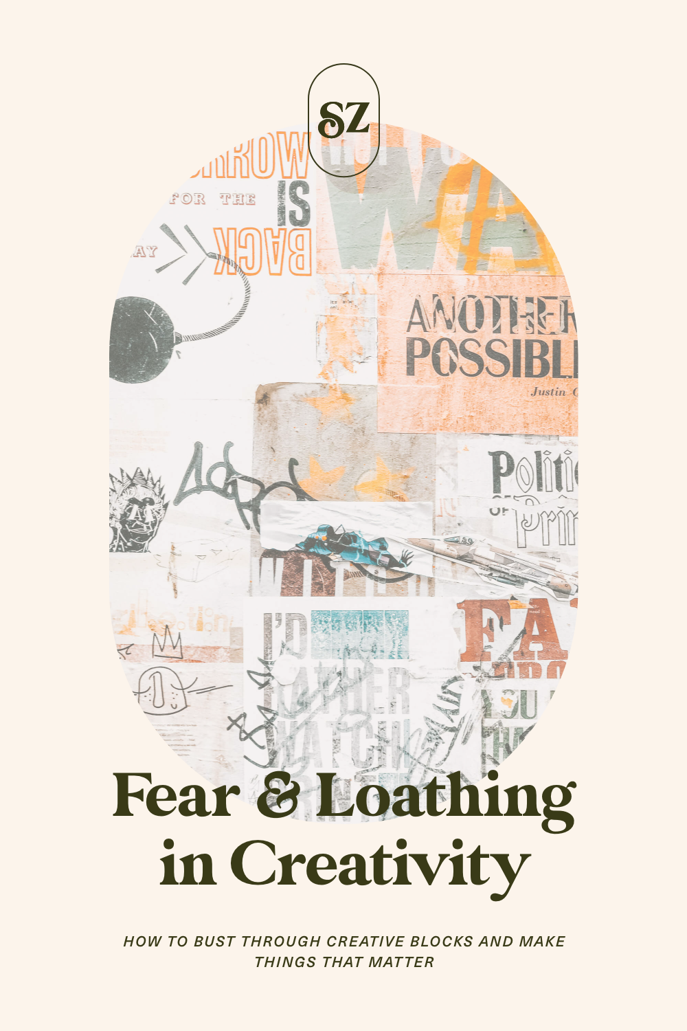 Pin it: Fear & Loathing in Creativity. How to bust through creative blocks and make things that matter