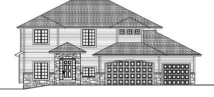 The 2777   2-Story Plan Exterior