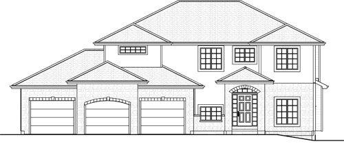 The 2810   2-Story Plan Exterior