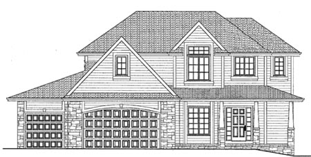 The 2432   2-Story Plan Exterior